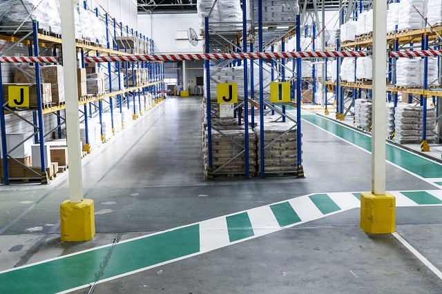 warehouse with implemented 5S housekeeping